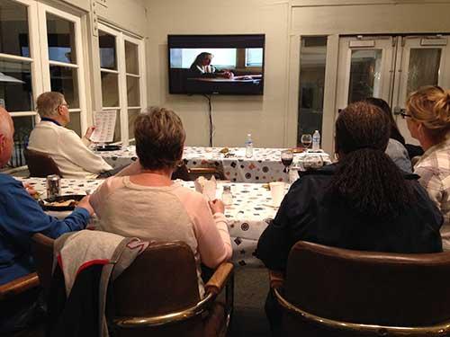 Oscar party tv